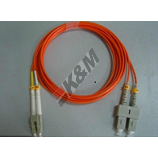 SCUPC-LCUPC OM1 62.5 125mm DX 3.0mm, Orange color, LSZH Jacket