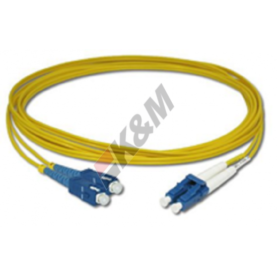 SC PC to LC PC SM G652D Bend Insensitive Fiber Optic Patch Cord K&M
