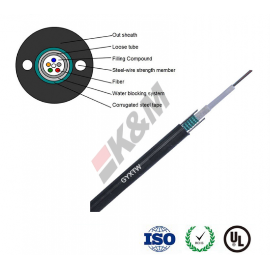2000 Kilometer/Kilometers per Week GYXTW outdoor 12 core fiber optic cable