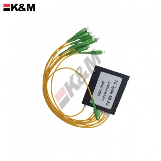 1x8 ABS SCPC Mini Type PLC  Fiber Optic Splitter