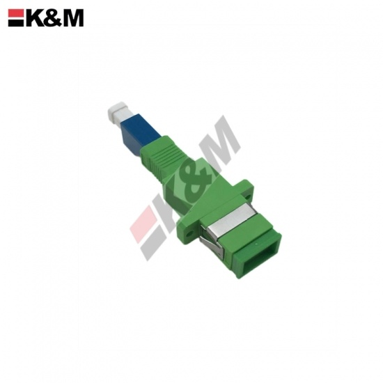 SC/APC feale to LC/PC Female Simplex SM Fiber Optic hybird Adapter