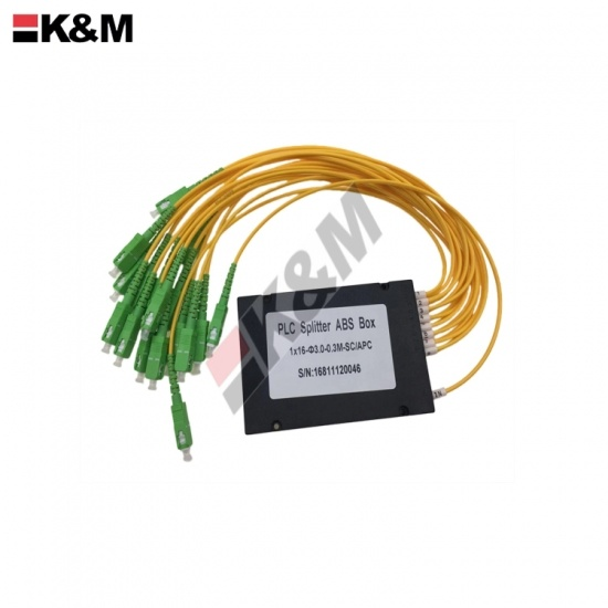 1x16 ABS SCPC Mini Type PLC  Fiber Optic Splitter