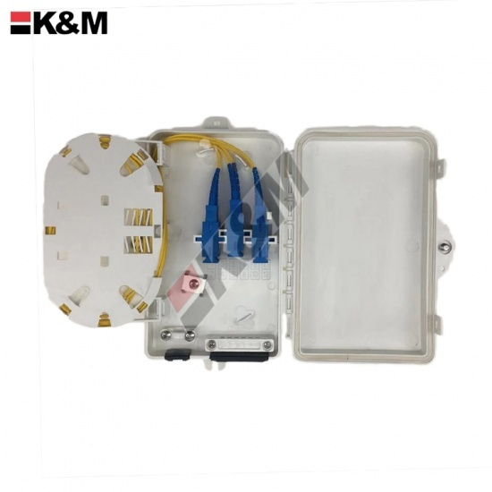 FTTH SC Simplex Fiber optic termination box 6Cores