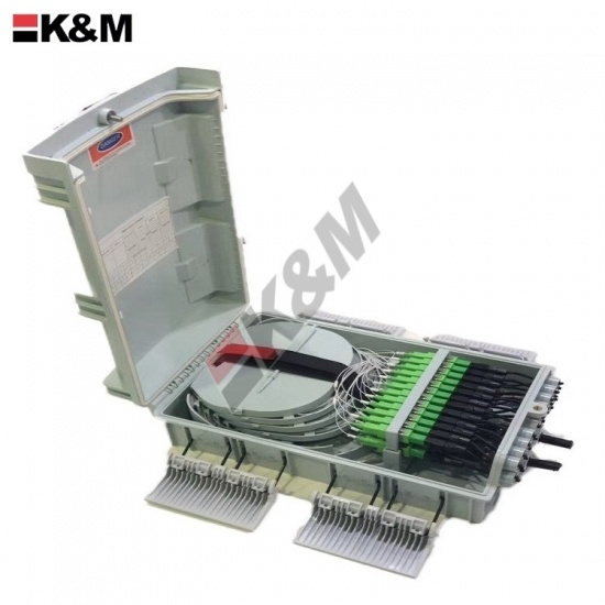 Fiber optic termination box for drop cable